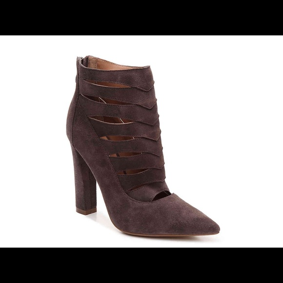 aa287af52e0 STEVE MADDEN CARDII TAUPE CAGED BOOTIES